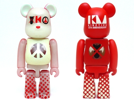 kinetics 5th Anniversary 100% ベアブリック(BE@RBRICK)