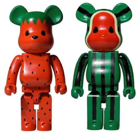 Levi's CLOT Watermelon & Strawberry 1000% ベアブリック(BE@RBRICK)