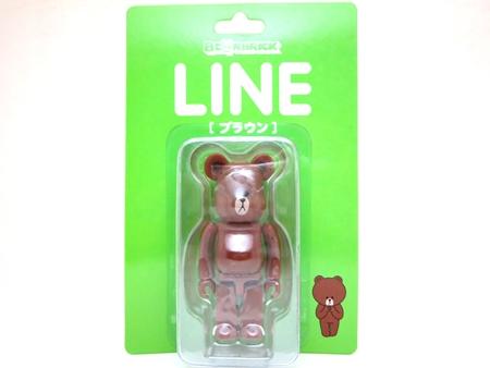 LINE ブラウン 100% ベアブリック (BE@RBRICK)