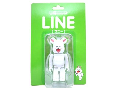 LINE コニー 100% ベアブリック (BE@RBRICK)