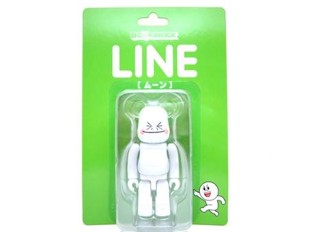 LINE ムーン 100% ベアブリック (BE@RBRICK)