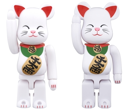 招き猫 弐 100% 400% ベアブリック (BE@RBRICK)
