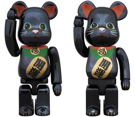 招き猫 黒メッキ 100% 400% ベアブリック (BE@RBRICK)