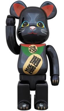 招き猫 黒メッキ 400% ベアブリック (BE@RBRICK)
