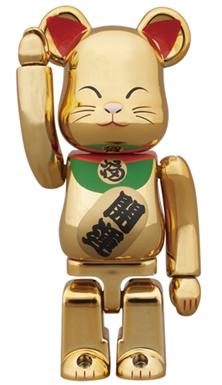 招き猫 金メッキ 弐 100% ベアブリック (BE@RBRICK)