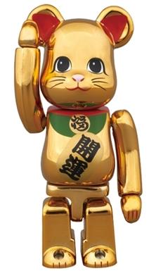 招き猫 金メッキ 参 100% ベアブリック (BE@RBRICK)