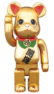 招き猫 金メッキ 参 400% ベアブリック (BE@RBRICK)