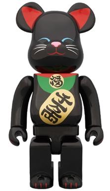 招き猫 黒 400% ベアブリック(BE@RBRICK)