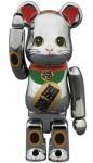 招き猫 銀メッキ 100% ベアブリック (BE@RBRICK)