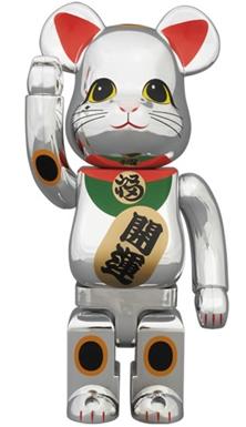 招き猫 銀メッキ 400% ベアブリック (BE@RBRICK)