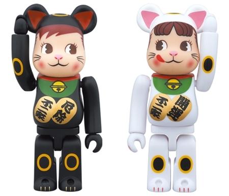 招き猫 ペコちゃん & ポコちゃん 2pc ベアブリック (BE@RBRICK)