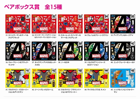 Happyくじ MARVEL 31種 100% & SPIDERMAN 400% ベアブリック(BE@RBRICK)