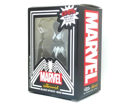 Happyくじ MARVEL ブラックスパイダーマン L@ST賞 ベアブリック(BE@RBRICK)