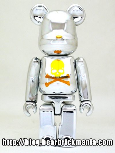 mastermind JAPAN CHROME SILVER 100% ベアブリック(BE@RBRICK
