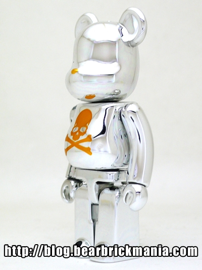 mastermind JAPAN CHROME SILVER 100% ベアブリック(BE@RBRICK)