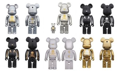mastermind JAPAN CHROME SILVER 100% & 400% / 1000% / 超合金 200% 4種 ベアブリック(BE@RBRICK)
