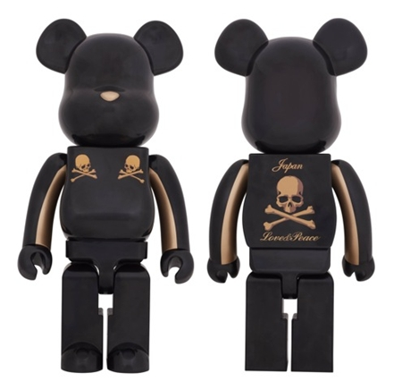 mastermind JAPAN GOLD STRIPE 1000% ベアブリック(BE@RBRICK)