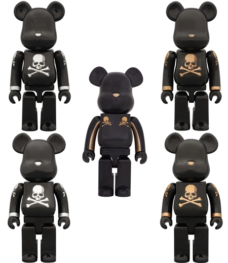mastermind JAPAN GOLD STRIPE 1000% / GOLD SILVER 100% & 400% ベアブリック(BE@RBRICK)
