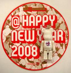 HAPPY NEW YEAR(年賀状) 2008 70% ベアブリック(BE@RBRICK)
