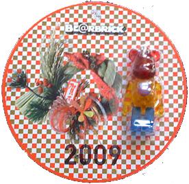 HAPPY NEW YEAR(年賀状) 2009 70% ベアブリック(BE@RBRICK)