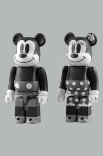 MICKEY MOUSE & MINNIE MOUSE 2pc ベアブリック(BE@RBRICK)