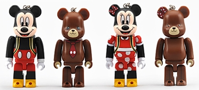 UniBEARsity MICKEY MOUSE & MINNIE MOUSE 2pc ベアブリック(BE@RBRICK)