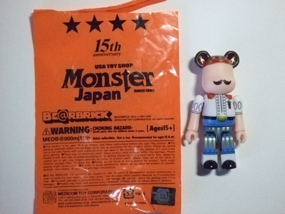 Monster japan 15th ベアブリック(BE@RBRICK)