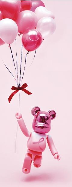 PINK RIBBON ベアブリック(BE@RBRICK)