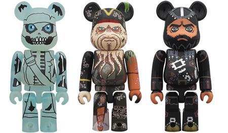 パイレーツ オブ カリビアン Barbossa Davy Jones Blackbeard 2pc ベアブリック(BE@RBRICK)