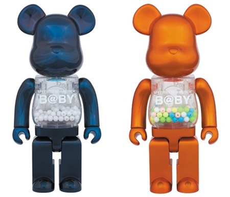 1/6計画 MY FIRST B@BY Pearl Navy/Pearl Orange Ver 400% ベアブリック (BE@RBRICK)