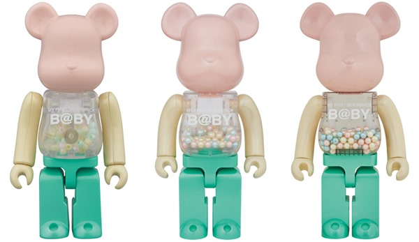 MY FIRST BE@RBRICK B@BY  1st COLOR PEARL COATING 100% & 400% & 1000% ベアブリック (BE@RBRICK)