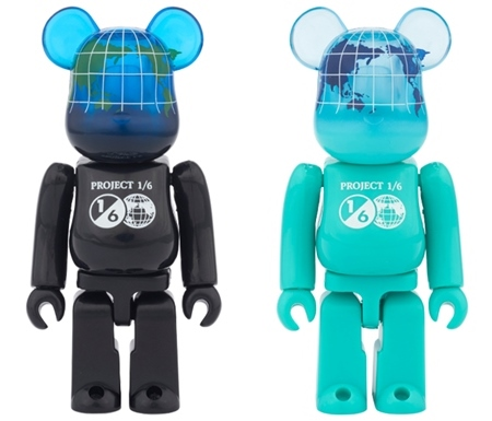 1/6計画 NOVELTY EARTH 100% (COSMIC BLACK / OCEAN BLUE) ベアブリック (BE@RBRICK)