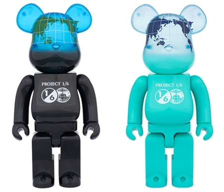 1/6計画 NOVELTY EARTH 400% (COSMIC BLACK / OCEAN BLUE) ベアブリック (BE@RBRICK)