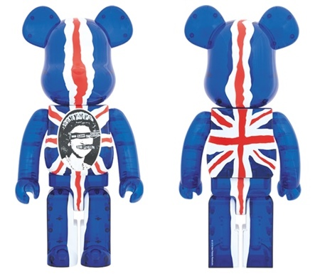 SEX PISTOLS Ver.2 God Save The Queen Clear 1000% ベアブリック (BE@RBRICK)