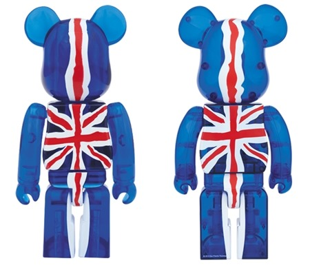 SEX PISTOLS Ver.2 God Save The Queen Clear 100 % 400% ベアブリック (BE@RBRICK)