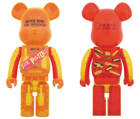 SEX PISTOLS Ver.1 NEVER MIND THE BOLLOCKS Clear Ver 1000% ベアブリック (BE@RBRICK)