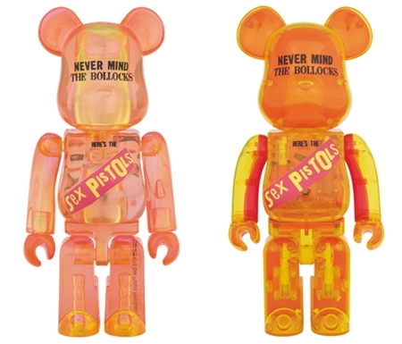 SEX PISTOLS Ver.1 NEVER MIND THE BOLLOCKS Clear Ver 100% & 400% ベアブリック (BE@RBRICK)