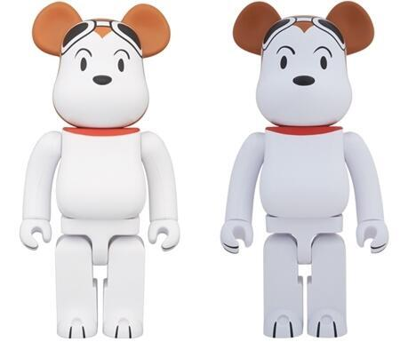 SNOOPY FLYING ACE 400% 1000% ベアブリック (BE@RBRICK)