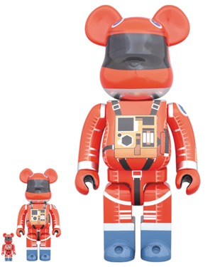SPACE SUIT ORANGE Ver 100% & 400% & 1000% ベアブリック (BE@RBRICK)