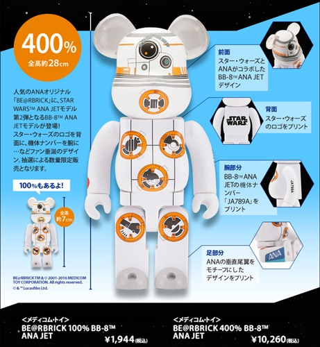 STAR WARS BB-8 ANA JET 100% 400% ベアブリック (BE@RBRICK)