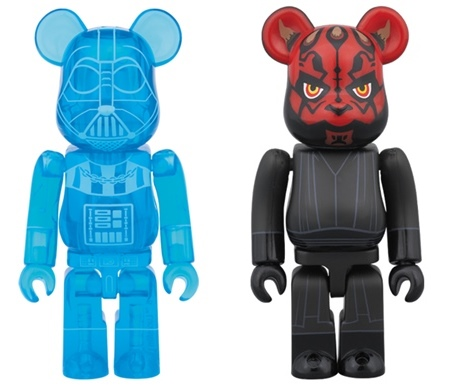 STAR WARS DARTH VADER HOLOGRAPHIC Ver & DARTH MAUL 2pc ベアブリック (BE@RBRICK)
