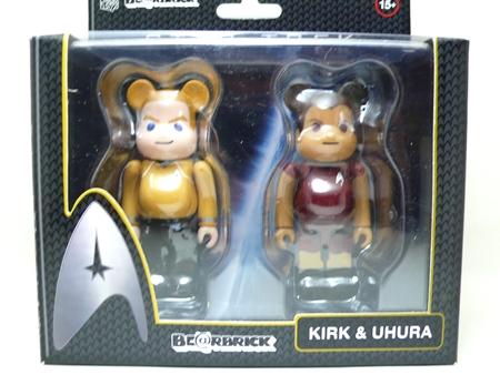 スタートレック JAMES T. KIRK & UHURA 2pc ベアブリック (BE@RBRICK)