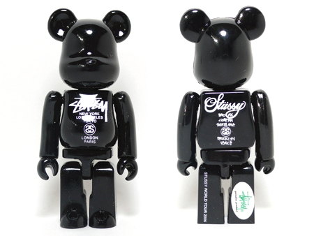 STUSSY WORLD WIDE TOUR ブラック ベアブリック(BE@RBRICK)