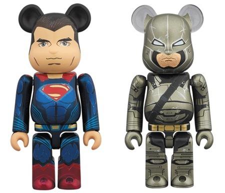 SUPERMAN & ARMORED BATMAN 2pc ベアブリック (BE@RBRICK)