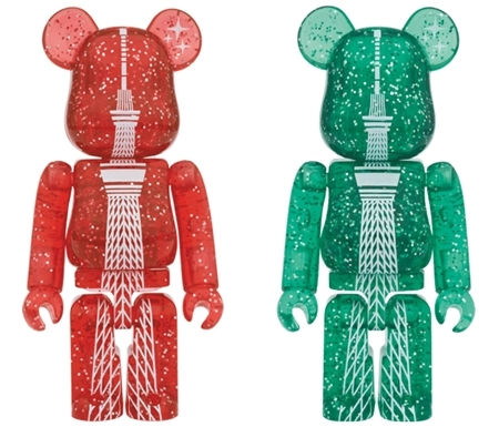 TOKYO SKYTREE クリスマス ver RED/GREEN ベアブリック (BE@RBRICK)