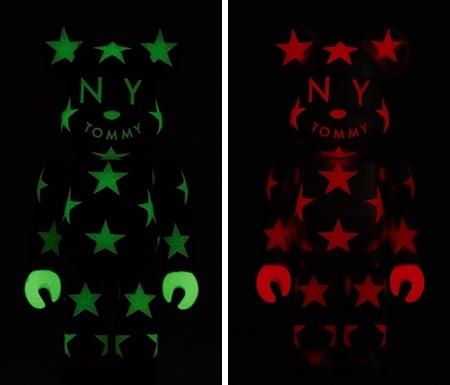 TOMMY STAR ブラック / シルバー ベアブリック (BE@RBRICK)