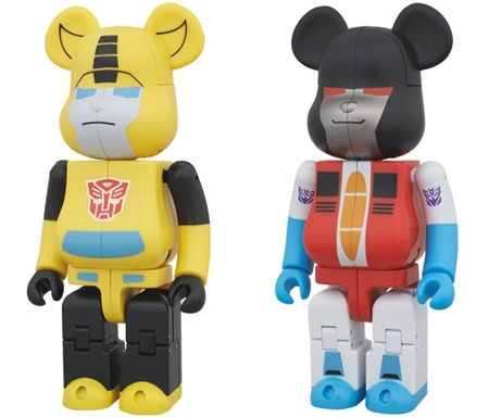 TRANSFORMERS BUMBLEBEE & STARSCREAM 200% ベアブリック (BE@RBRICK)