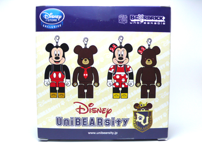 UniBEARsity MINNIE MOUSE & PUDDING 2pc ベアブリック(BE@RBRICK)