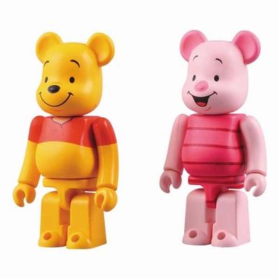Winnie the Pooh & Piglet 2pc ベアブリック(BE@RBRICK)