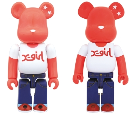 X-girl 20th Anniversary 100% 1000% ベアブリック (BE@RBRICK)